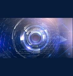 Futuristic cyber eye vector