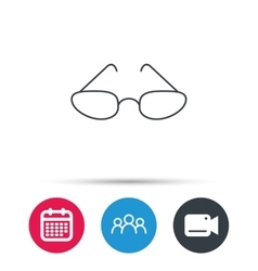 Glasses icon Reading accessory sign vector image