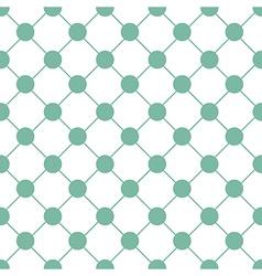 Green Polka dot Chess Board Grid White vector