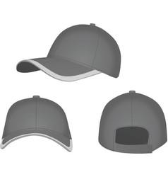 Grey baseball cap vector