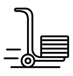 Hand wheel truck icon outline style vector