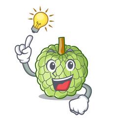 Have an idea ripe sugar apple fruit on mascot vector