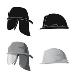 headgear and cap symbol vector image