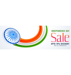 independence day of india sale banner design vector image