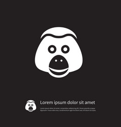 isolated monkey icon ape element can be vector image
