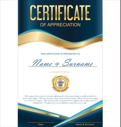 Luxury certificate or diploma template 2 vector