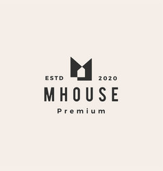 M house home mortgage roof architect hipster vector