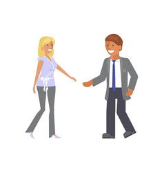 man and woman expression vector image
