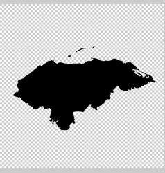 Map honduras isolated black vector