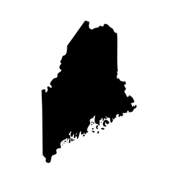 map of the US state Maine vector image