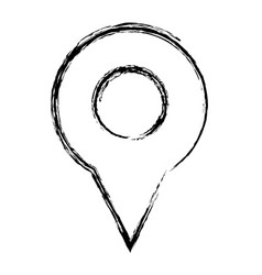 Map pin icon direction gps element search vector