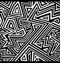 monochrome line seamless pattern vector image