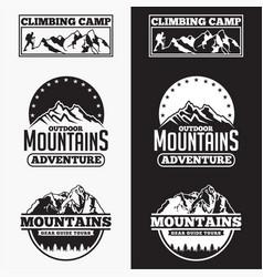 Mountains logo badge 3 vector