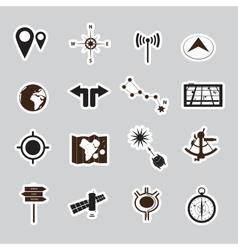 Navigation stickers set eps10 vector