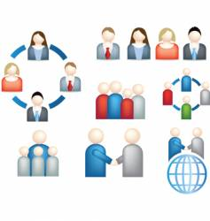 network teamwork research vector image