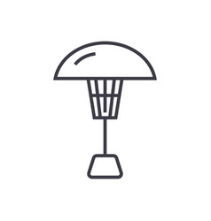Patio heater line icon sign vector