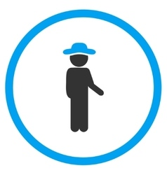 Person Idler Circled Icon vector image