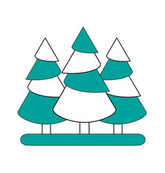 pine tree forest icon image vector image