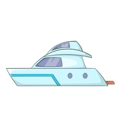 Planing powerboat icon cartoon style vector