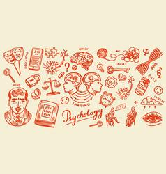 psychology science symbols psychologist online vector image