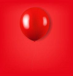 red balloon isolated red background vector image