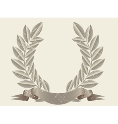 Retro laurel wreath vector image