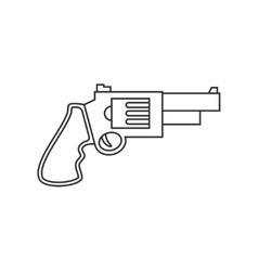 Revolver pistol line icon vector image
