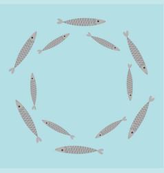 Sardine gray fish set iwashi sardina pilchardus vector