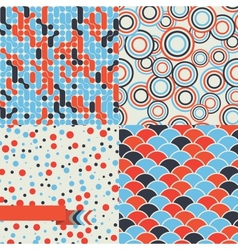 Seamless set of retro pattern Stylish background vector