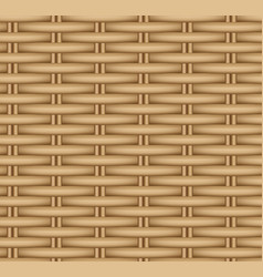 Seamless texture of a wicker basket vector