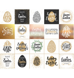 set 20 save date lettering posters vector image