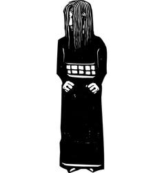 Shy girl vector image