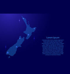 Silhouette of new zealand country from wavy blue vector