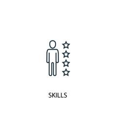 Skills concept line icon simple element vector