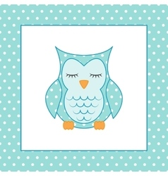 Sleeping owl Applique Patchwork Pattern vector image