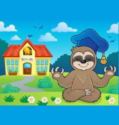 Sloth teacher theme image 4 vector