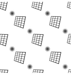 solar energy panel icon seamless pattern vector image