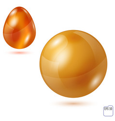 Sphere and egg - side by side - geometrical vector