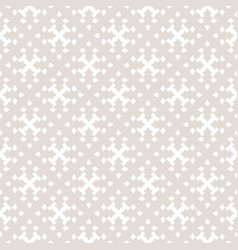 Subtle ornamental seamless pattern with crosses vector