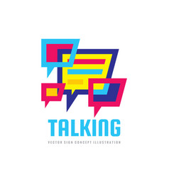 talking - speech bubbles logo concept vector image