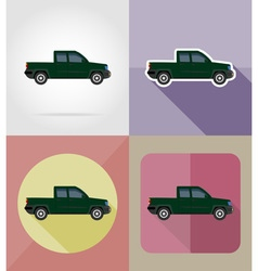 transport flat icons 08 vector image