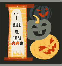 Trick or treat halloween holidays ghost and vector