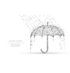 umbrella rain protection abstract low poy vector image