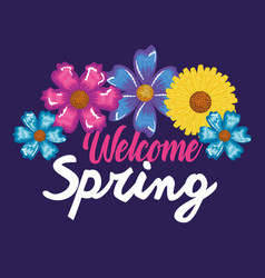 Welcome spring decorative art vector