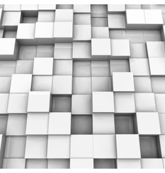 White brick wall with random height bricks vector image
