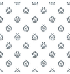 wild west revolver pattern seamless vector image