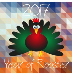 Year of Rooster chinese calendar cartoon symbol on vector