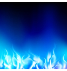 blue flame on a black background vector image vector image