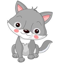 Fun zoo Wolf vector image