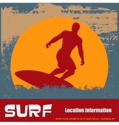 grunge surfer background vector image